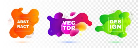Fluid shapes vector design elements. Modern abstract. Template vector illustration