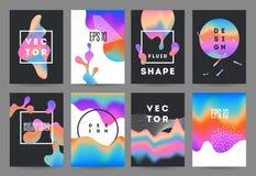 Fluid shapes vector illustration. Stock Photo