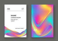 Fluid shapes. Wavy liquid background. Bright abstract backdrop c vector illustration