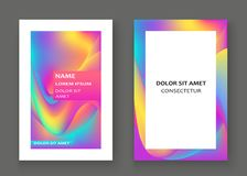 Fluid shapes. Wavy liquid background. Bright abstract backdrop c royalty free illustration