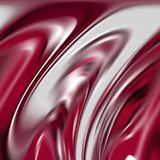 Fluid smoky white red silver shapes, graphics, abstract background Stock Photos