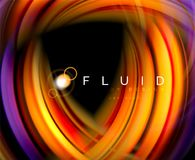 Fluid smooth wave abstract background, flowing glowing color motion concept, trendy abstract layout template for. Business or technology presentation or web Vector Illustration