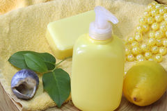 Fluid soap Royalty Free Stock Images