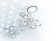 Fluindo anéis Imagem de Stock