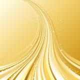 fluindo o fundo dourado Fotografia de Stock Royalty Free