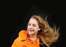 fluing νεολαίες τριχώματος κ&omi Στοκ Εικόνες