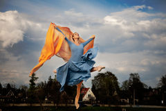Fluing ballerina Royalty Free Stock Images