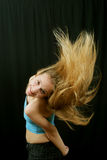 Fluing  hair - young girl Royalty Free Stock Photography