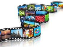 Fluir concepto de los media Fotografía de archivo libre de regalías