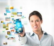 Fluir el teléfono móvil Fotografía de archivo libre de regalías