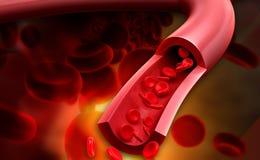 Fluir a los glóbulos stock de ilustración