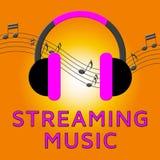 Fluir a música representa a ilustração 3d acústica sadia ilustração do vetor