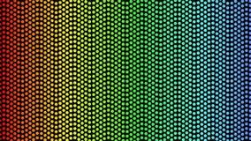 Fluir pontilha em cores do arco-íris no fundo preto Decoração para o disco, clube noturno, estilo de Las Vegas, ilustração stock