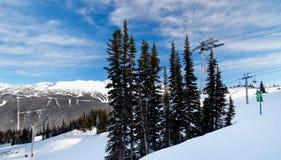 Fluiter en Blackcomb Ski Resport royalty-vrije stock afbeelding
