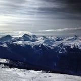Fluiter Heli Skiing Stock Fotografie