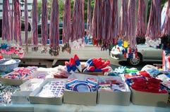 Fluitjes en nationale vlag tri-gekleurde linten Royalty-vrije Stock Foto