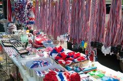 Fluitjes en nationale vlag tri-gekleurde linten Royalty-vrije Stock Fotografie