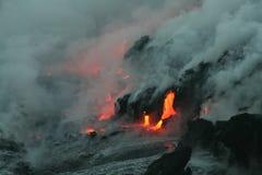 Flujo 4 de Lave Imagenes de archivo