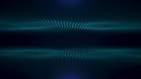 Flujo abstracto de la turquesa de fondo óptico del negro del fiberson, lazo inconsútil animaci?n Dos ondas de pequeño verde ilustración del vector