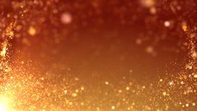 Flujo anaranjado de la partícula