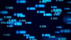 Flujo de ceros Matriz del fondo de Digitaces representaci?n 3d Fondo del c?digo binario programaci?n Desarrollador de web ilustración del vector
