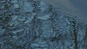 Flujo de corrientes deshelado azul de la primavera almacen de metraje de vídeo