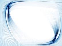 Flujo de datos del código binario, frontera ondulada azul Foto de archivo
