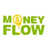 Flujo de dinero del texto Foto de archivo libre de regalías