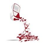 Flujo de la caja del anillo de la tarjeta del día de San Valentín del vector Fotos de archivo libres de regalías