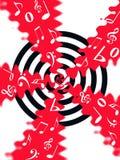 Flujo de la música Imagen de archivo libre de regalías