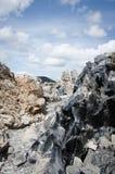 Flujo de la obsidiana en las nubes Foto de archivo libre de regalías