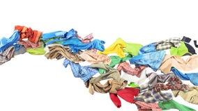Flujo de la ropa en forma de onda stock de ilustración