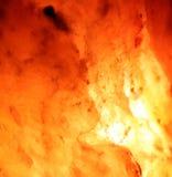 Flujo de lava Imágenes de archivo libres de regalías