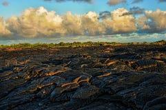 Flujo de lava foto de archivo libre de regalías