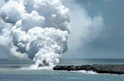 Flujo de lava Imagen de archivo libre de regalías