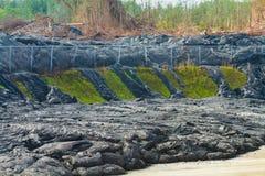 Flujo de lava de avance Fotos de archivo