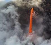 Flujo de lava de la manguera de bomberos Fotografía de archivo libre de regalías
