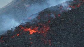 Flujo de lava del Etna almacen de metraje de vídeo