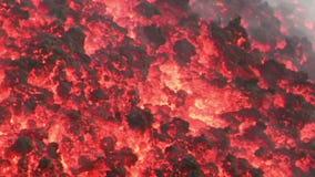 Flujo de lava del primer de Volcano Etna, Italia almacen de video