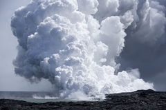 Flujo de lava en el océano 9926 Imagen de archivo libre de regalías