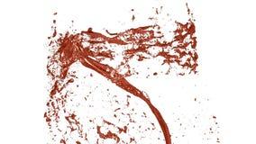 Flujo de vueltas líquidas del tonelero o del bronce en un torbellino o un tornado El flujo de líquido del metal gira y forma a metrajes