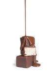 Flujo del chocolate aislado Imagenes de archivo