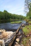 Flujo del río fotografía de archivo libre de regalías