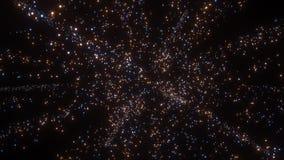 Flujo dinámico de las partículas que brilla intensamente almacen de metraje de vídeo