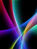 Flujo dinámico, ondas estilizadas, vector Imagen de archivo libre de regalías