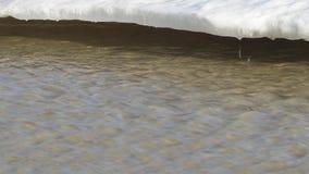 Flujo rápido de agua del derretimiento almacen de video