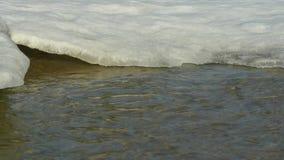 Flujo rápido de agua del derretimiento metrajes