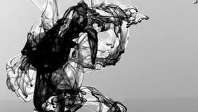 Flujos abstractos de la tinta separados en submarino ilustración del vector