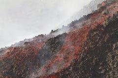 flujos de lava Fotos de archivo libres de regalías