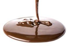 Flujos del chocolate Foto de archivo libre de regalías